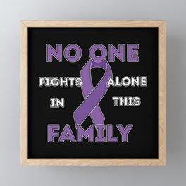 noone fights Epilepsy Alone Framed Mini Art Print