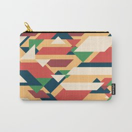 Abstract geometric background. Retro overlapping rectangles and triangles. Carry-All Pouch