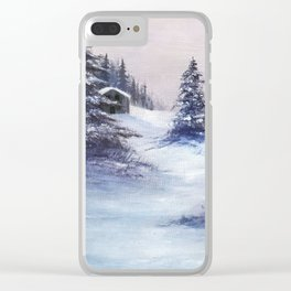 Serene Snow Clear iPhone Case