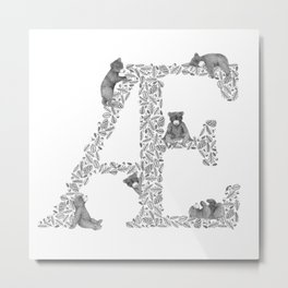 Bearfabet Letter Æ Metal Print