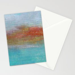 Enchanted Waters mixed media abstract seascape Stationery Cards