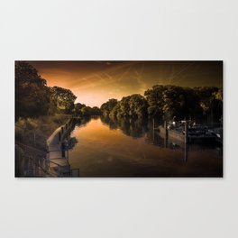 Dusk at Bray Lock Canvas Print