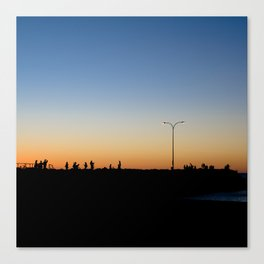 Sunsetting Silhouette Canvas Print