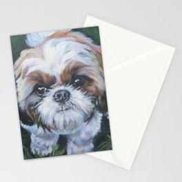 SHIH TZU dog art portrait from an original painting by L.A.Shepard Stationery Cards