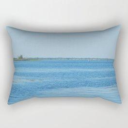 River panorama background and landscape coast Rectangular Pillow