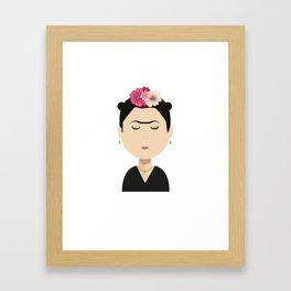 Frida Kahlo Cartoon Framed Art Print