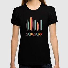 Retro Sun & Surf Surfboard T-shirt