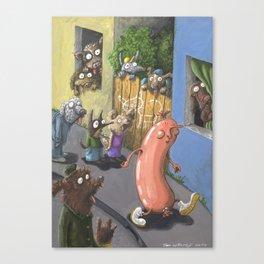The Frivolous Sausage Canvas Print