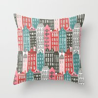 buildings Throw Pillows featuring Buildings by Rae Ritchie