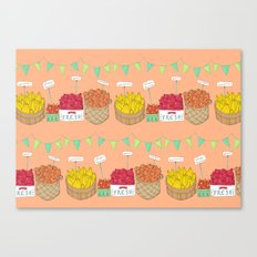 Farmer's Market Pattern Canvas Print