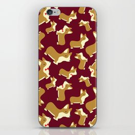 Corgi Love - Burgundy iPhone Skin