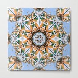 Summer pattern kaleidoscope Metal Print