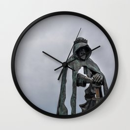 King Arthur Statue - Tintagel Castle - England Wall Clock