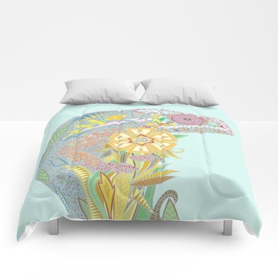 chameleon pastel mint Comforters