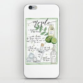 Mojito Illustrated Recipe iPhone Skin