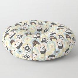 Round animal Floor Pillow