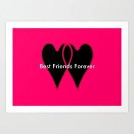 Best Friends Forever jGibney The MUSEUM Gifts society6  Art Print