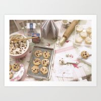 baking Art Prints featuring Baking Memories by Miniature Love