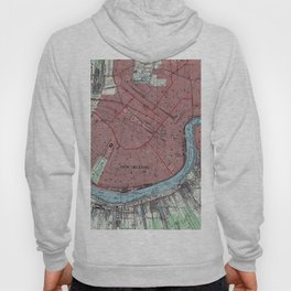 Vintage Map of New Orleans Louisiana (1954) Hoody