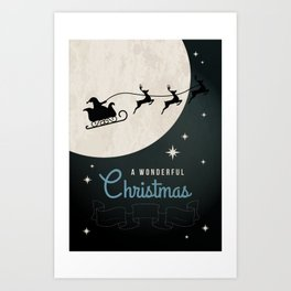 A Wonderful Cristmas Art Print