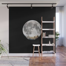 Sleeping cat with the Moon Wall Mural