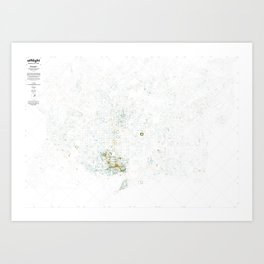 Visible city, living city Art Print