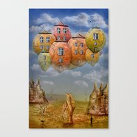 home sweet home Canvas Prints featuring Sweet Home by teddynash