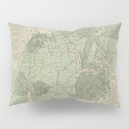 Vintage White Mountains New Hampshire Map (1915) Pillow Sham