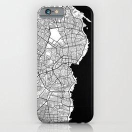 Maracaibo City Map of Venezuela - Circle Black iPhone Case