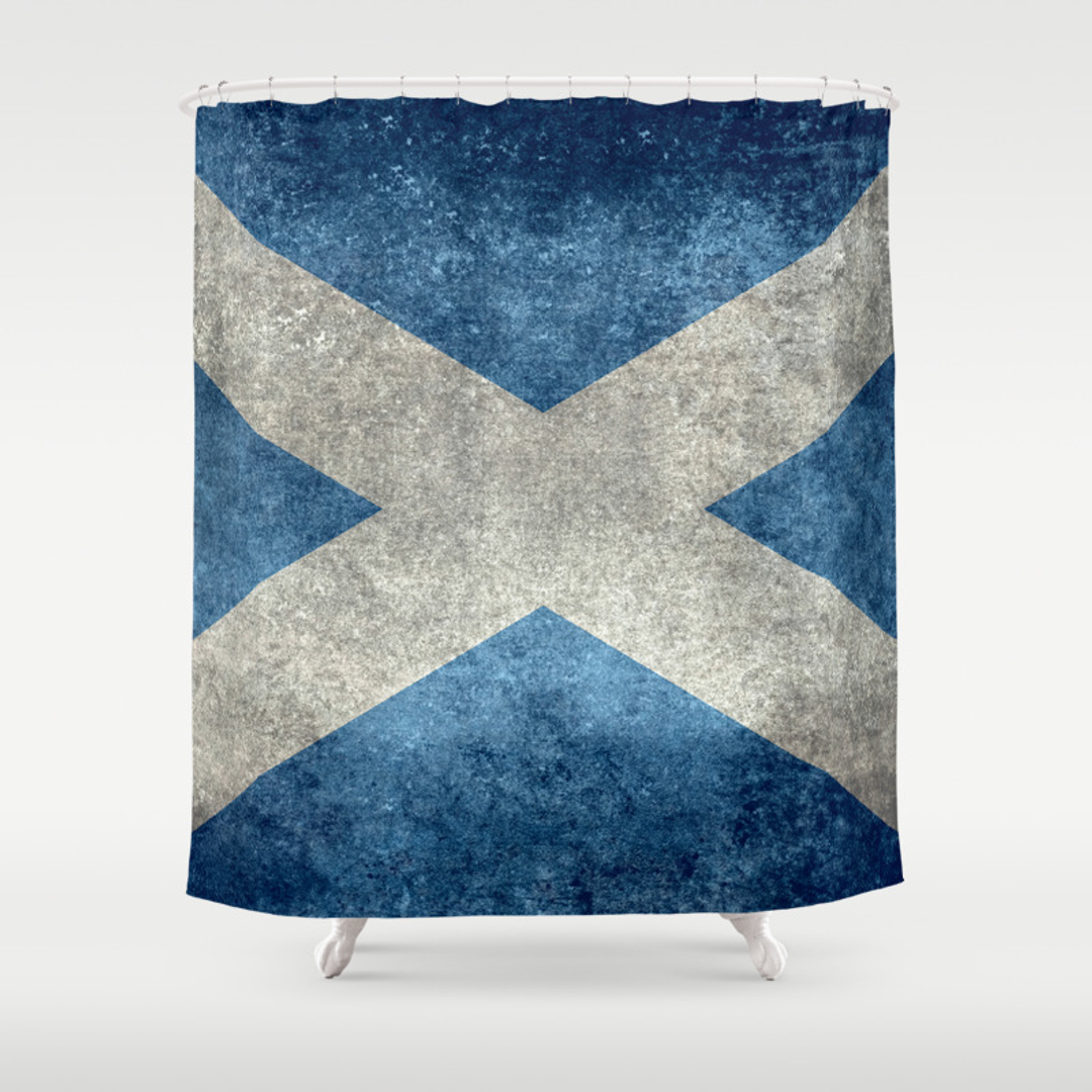 blue and scottish shower curtains society6