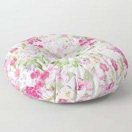Vintage & Shabby Chic - Pastel Spring Flower Medow Floor Pillow