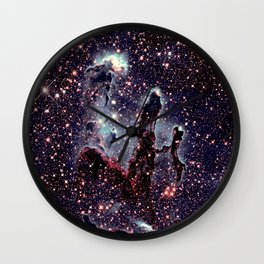 Galaxy : pillars of creation nebula Wall Clock