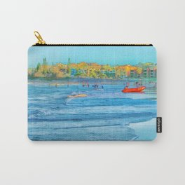 Abstract summer fun and surf rescue boat Carry-All Pouch
