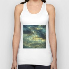 Cloudy Gray Blue Sky Vintage Unisex Tank Top