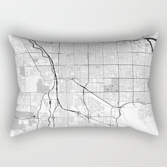 Tucson Map Gray Rectangular Pillow