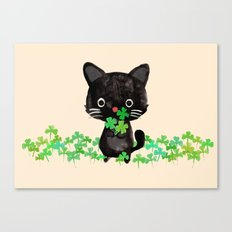 The Luckiest Cat Canvas Print