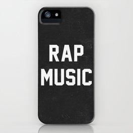 Rap Music iPhone Case
