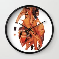 sex and the city Wall Clocks featuring SEX BOMB!!! by Marko Köppe