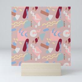 Postmodern Party in Blush Mini Art Print