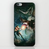 metroid iPhone & iPod Skins featuring Metroid by ImmarArt