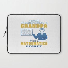 Mathematics Degree Grandpa Laptop Sleeve