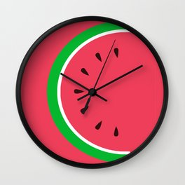 Red Watermelon - Summer time Wall Clock