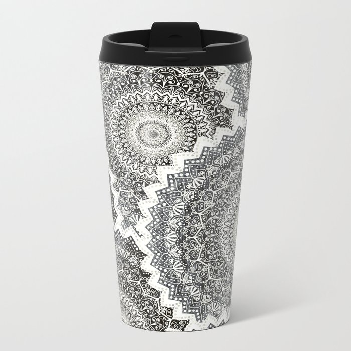 WINTER MANDALAS Metal Travel Mug