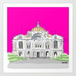 Bellas Artes architectural city ecopop Art Print