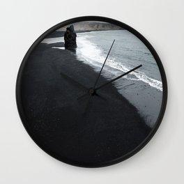 beach of vik in iceland Wall Clock