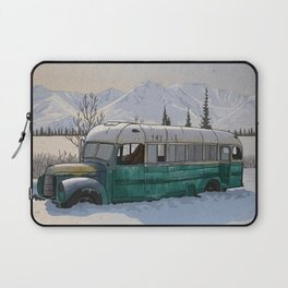 Into the Wild Fairbanks Bus Laptop Sleeve