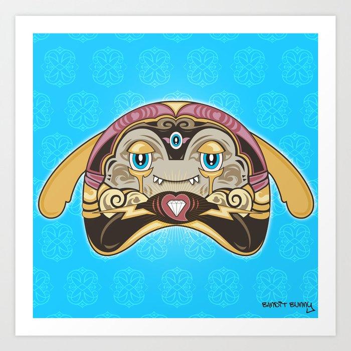 RUFUS (has a heart that shines like a diamond) Art Print