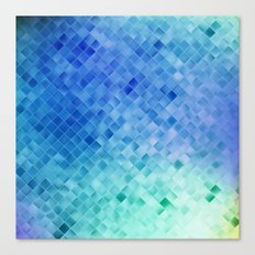 Blue Mosaic Pattern Canvas Print