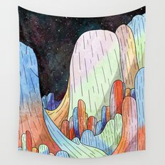 coral Mountains Wall Tapestry