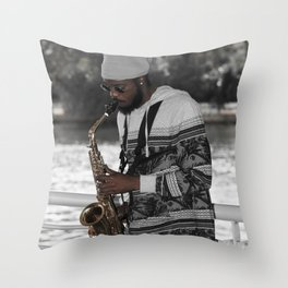 All That Jazz III Throw Pillow